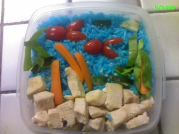 A bento made with whatever I could scrounge in the kitchen