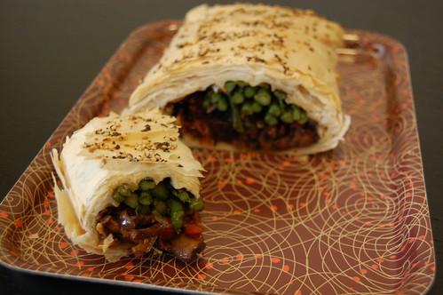 Asparagus Cashew Cheese Struedel