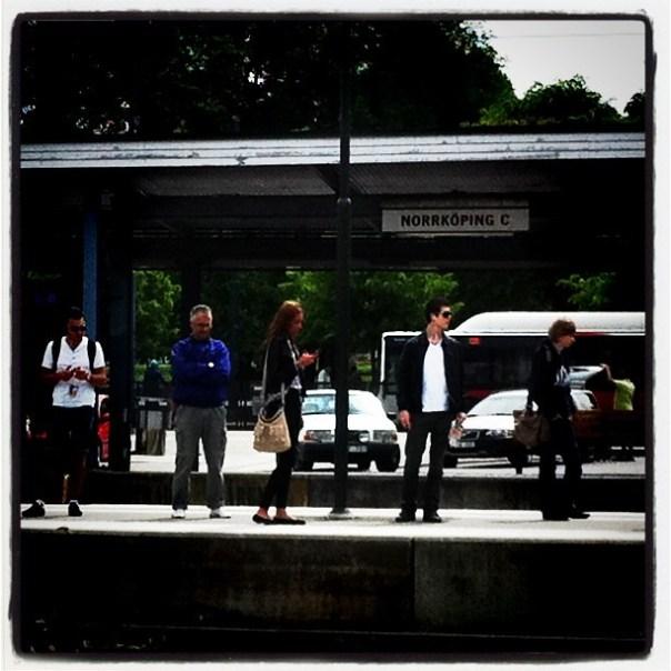 Strangers on a platform