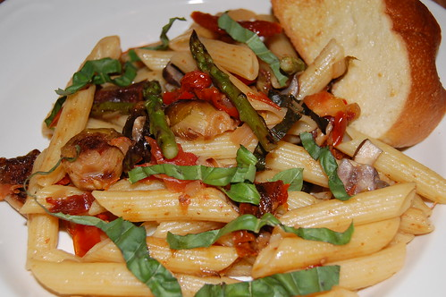 Penne with Grilled Vegetables