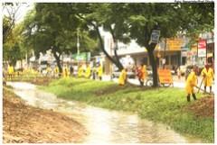 Prefeitura segue com a limpeza do canal dos Bultrins – Foto: Passarinho/Pref.Olinda