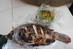 Grilled Fish and Nam Prik Pla Tu THB55 + THB15...