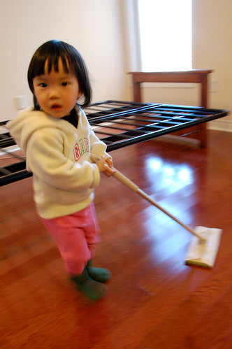 my little one helped out cleaning ! HA!