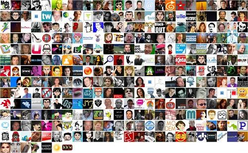 Mosaic des followers Twitter