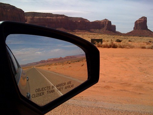 Rear view at Monument Valley