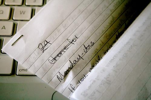 Monday: Handwritten OhDarling Post