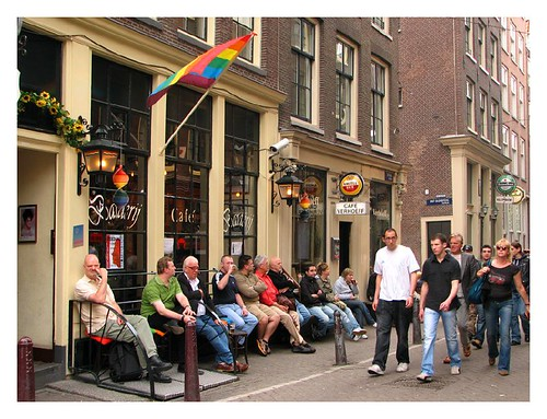 One of many pubs in the Red Light District by you.