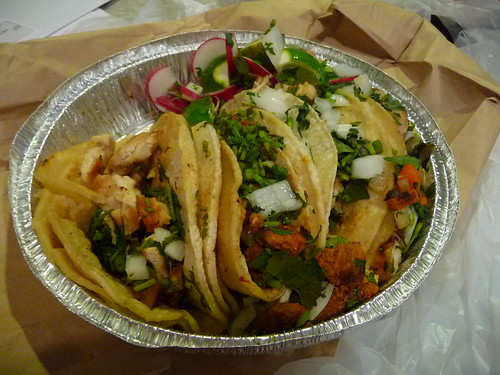 Four tacos from Villa Patron in Inwood, NY