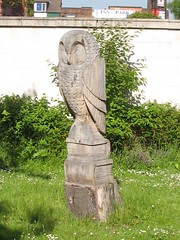 Middlesbrough, Carved Owl, Albert Park