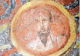 Il ritratto di Paolo presso le catacombe di Santa Tecla, Roma.