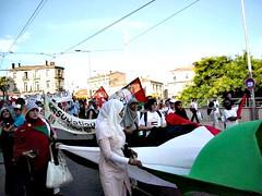 """Slogan qui a résonné entre les murs d'Antigone: """"Israël boycott, Georges Frêche boycott"""