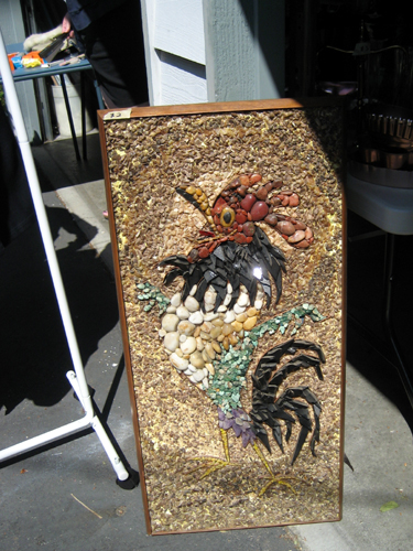Rock art rooster