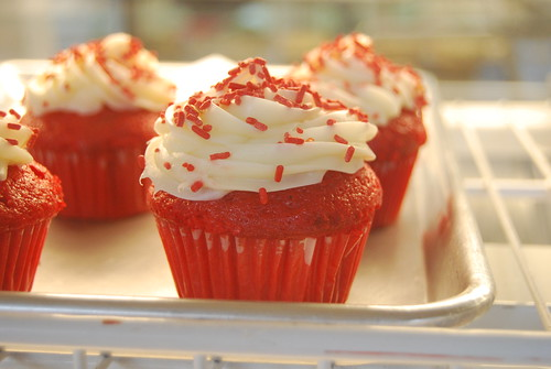 Farmers Market at the Grove - Red Velvet Cupcakes by you.
