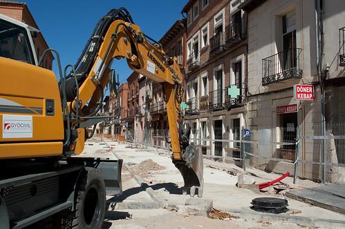 Obras en los aledaños del mercado municipal (VI)