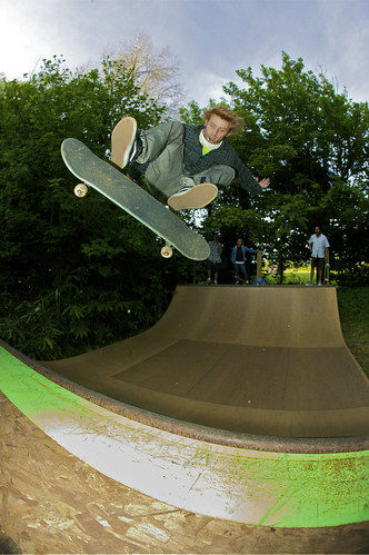 Big kickflip fakie on the UK Ramp Hire mini in a secret location outside Bristol.