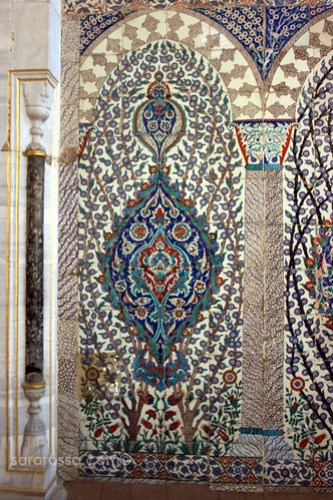 Intricate Tile Designs in the Imperial Harem, Topkapi Palace, Istanbul, Turkey
