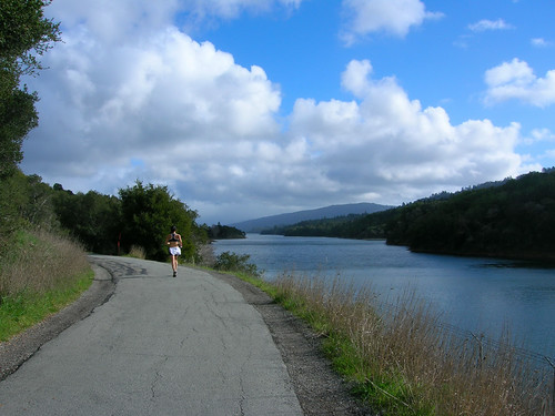 Lower Crystal Springs Reservoir with Black Mountain in the distance