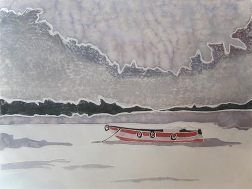 Boat - White Line (test print)