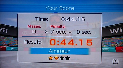 Improving at Wii Fit Slalom!