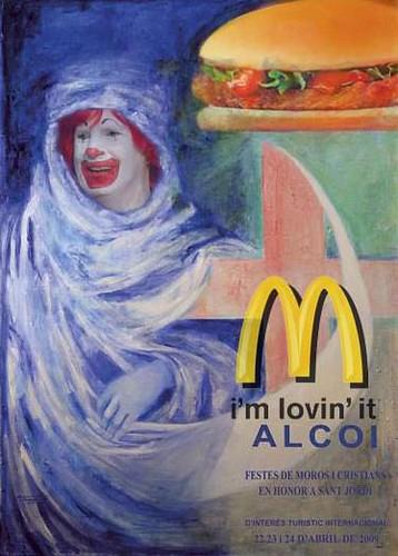 Parodia del cartel Moros y Cristianos Alcoy 2009