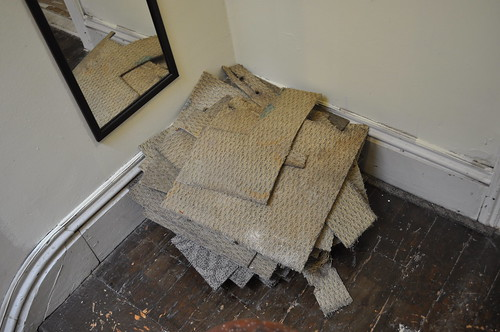 pile of bathroom carpet tiles