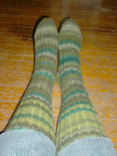 Ribby Retro Socks, complete