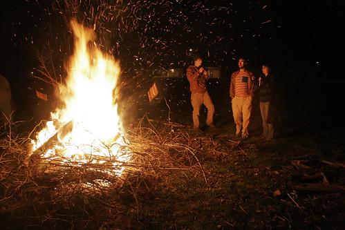 Post dig bonfire
