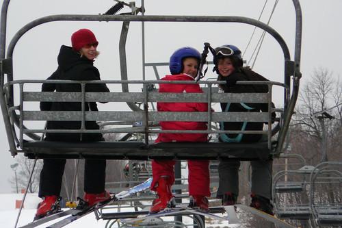 Riding The Ski Lift At Spirit Mountain