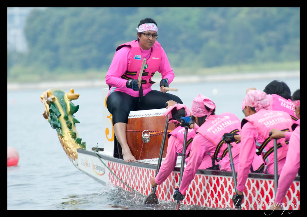 Ladies in Pink during race