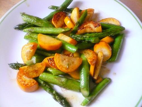 asparagus and squash