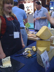 talking cheddar with Lucy of Neals Yard Dairy