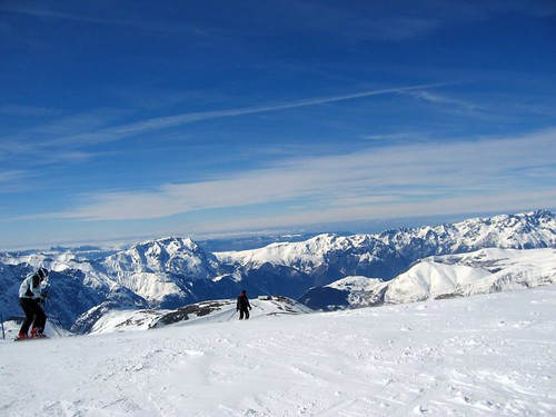 On the glacier at the top of Deux Alpes.