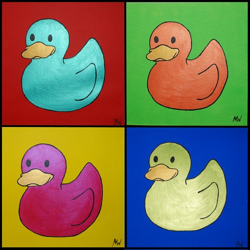 Pop Art Ducks by Red Ted Art.