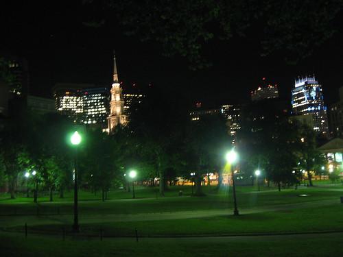 Boston Common at Night