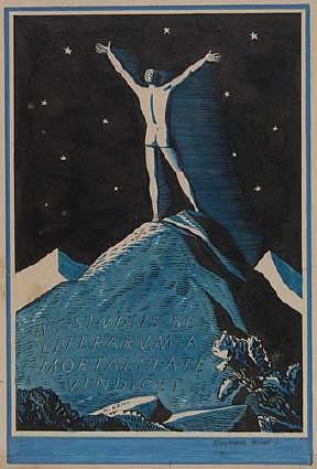 Bookplate for Robert J. Hamershlag (1928), by Rockwell Kent