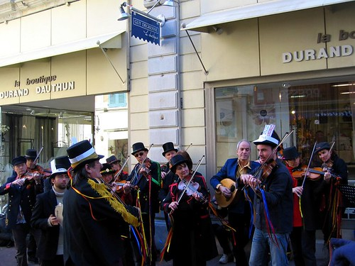 A classy street orchestra at the Carnaval de Romans.