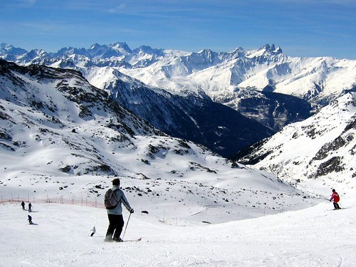 Skiers at Val Thorens.