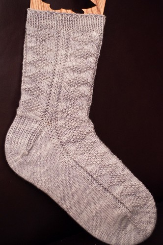 Diamond Gansey Socks - WIP