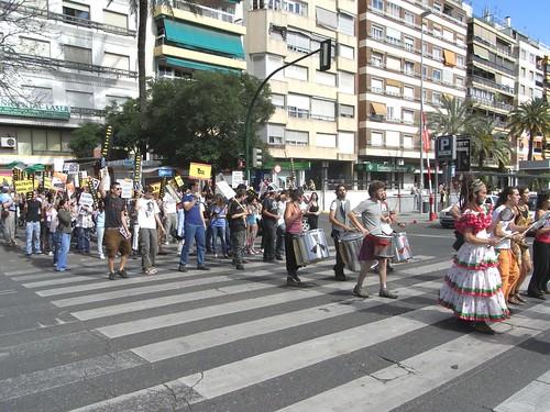 Manifestacion Antitaurina en Cordoba Paseo de la Victoria