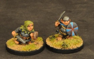 halfling warriors with armour