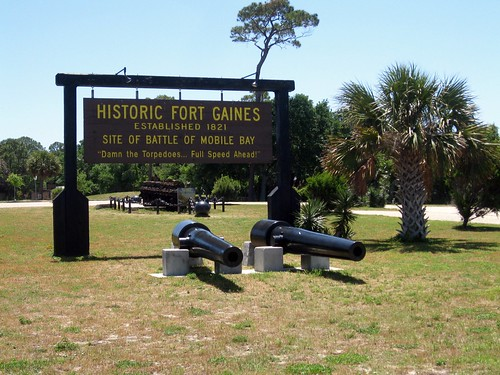 fort gaines, dauphin island, alabama