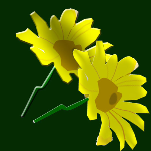 Yellow flower - Vector art