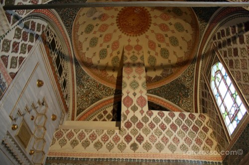 A Decorated Ceiling, Imperial Harem, Topkapi Palace, Istanbul, Turkey