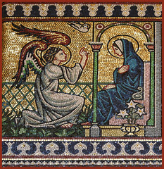 The Annunciation (Westminster mosaic), by Lawrence OP