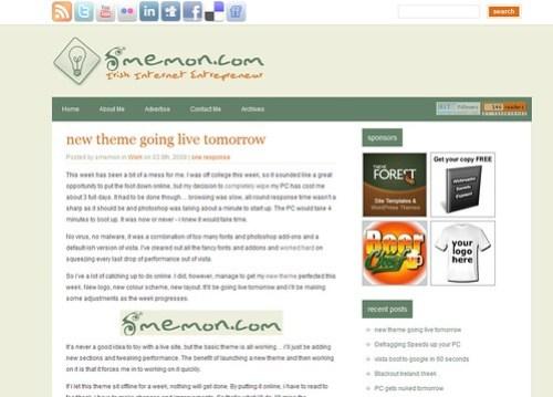 New Blog smemon.com Theme