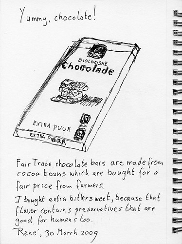 Yummy, chocolate!