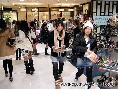 Inside one of the female-targeted shopping malls