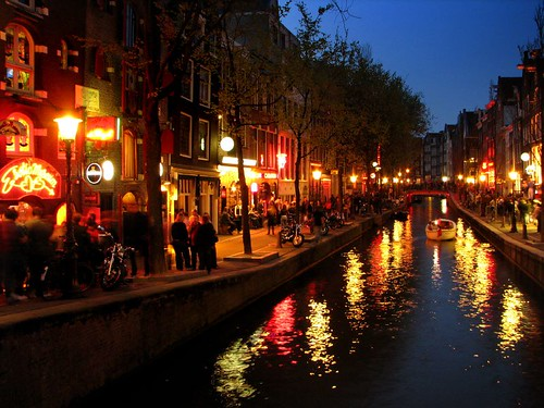 Red Light District at night by you.