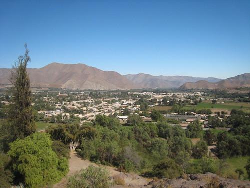 View of Vicuña from Cerro Del Virgen