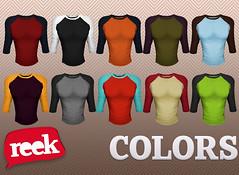 Reek - Baseball Tees - Colors